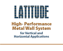 Latitude Horizontal and Vertical Metal Wall Panels
