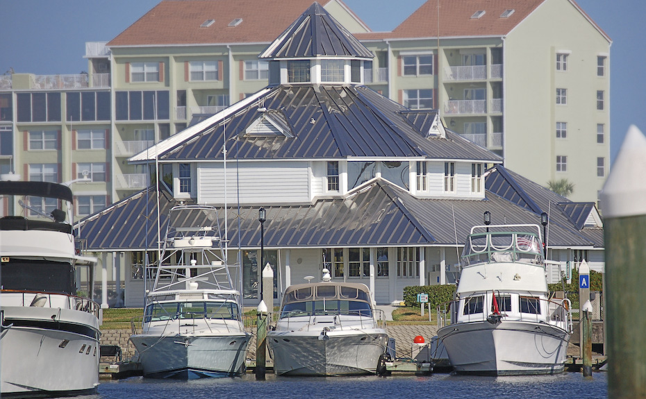 Series 300 Stainless Steel Metal Roof on Halifax Harbor Marina