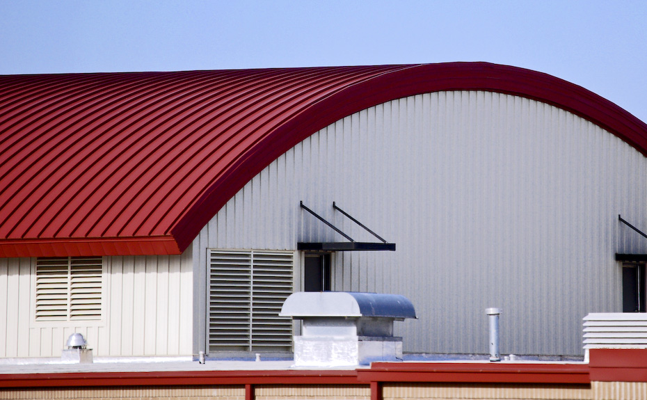Series 300 Curved Metal Roof on Sharon Elementary School