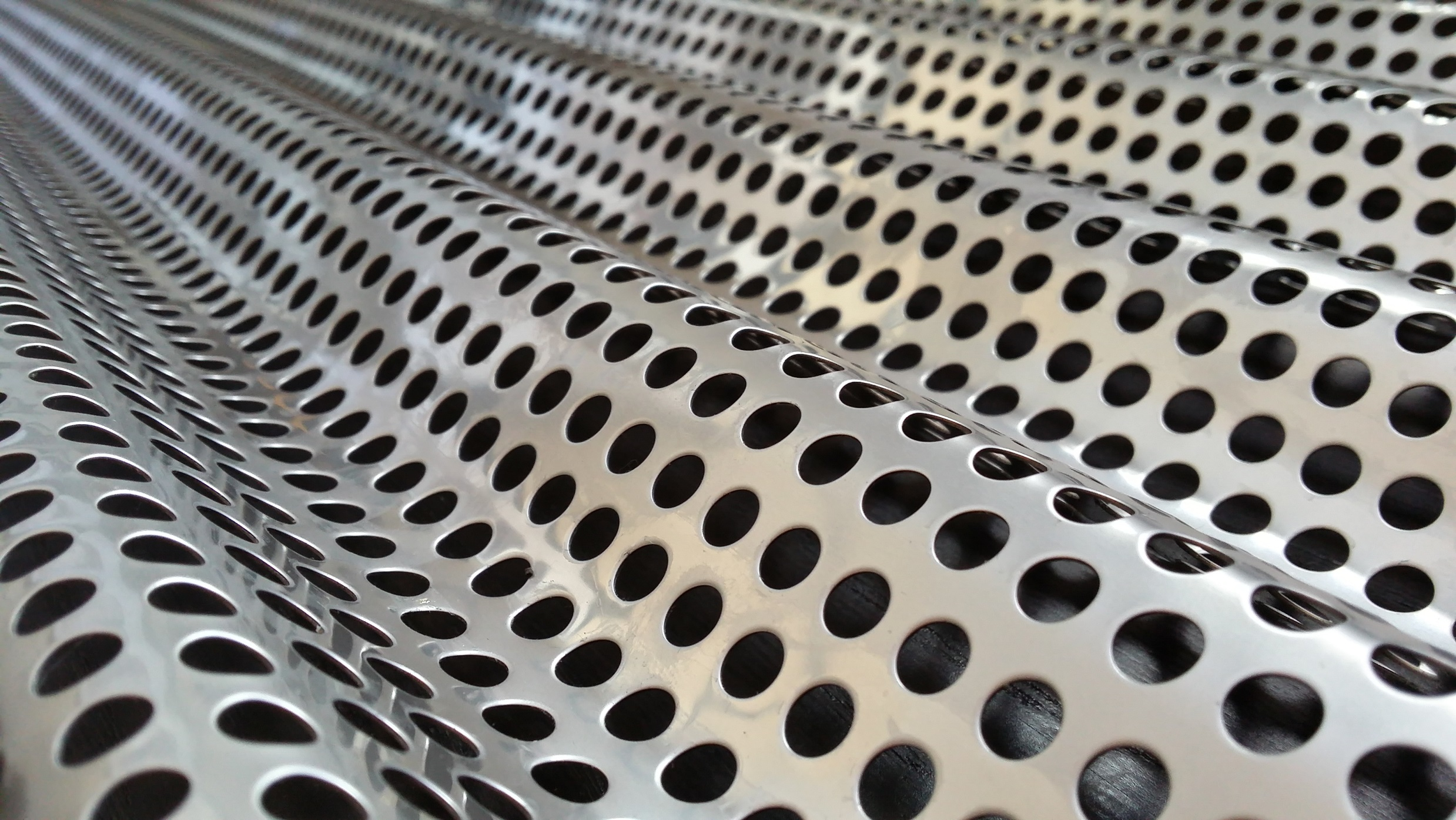 Perforated Corrugated Metal Panel Rug Designs