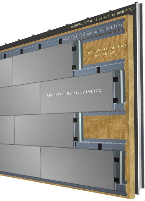 Intelliclad rainscreen metal wall cladding model for Exterior aluminum wall cladding